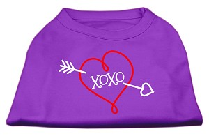 XOXO Screen Print Shirt Purple Med (12)